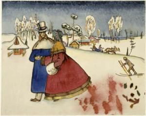 ParejaEnamorados_Kandinsky_1914