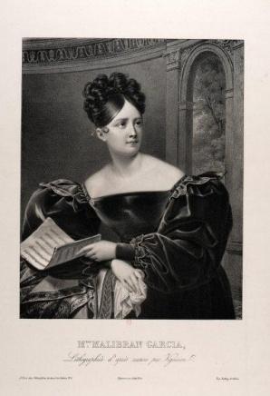 Retrato de La Malibran. Litografría