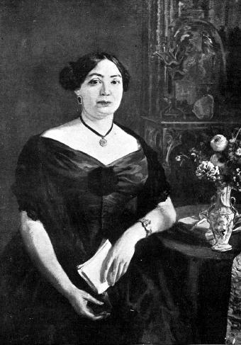 Retrato de María Josefa Massanès. Realizado por la pintora Lluisa  Vidal